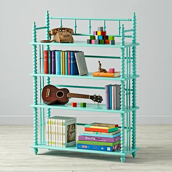 Teal Jenny Lind Bookcase