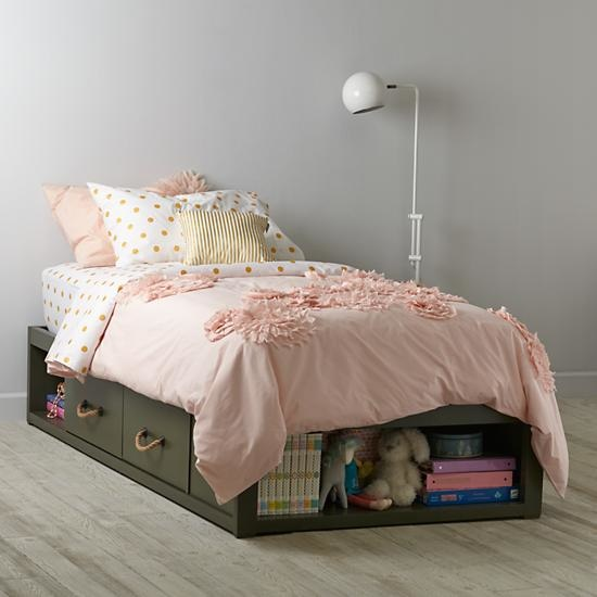 Kids Olive Topside Storage Bed
