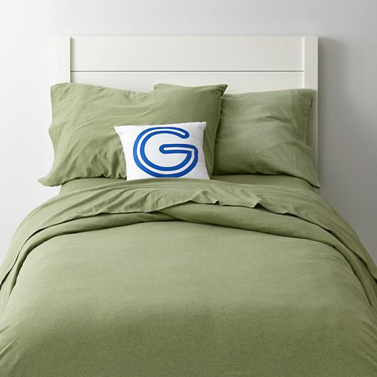 Green Pure Jersey Boys Bedding