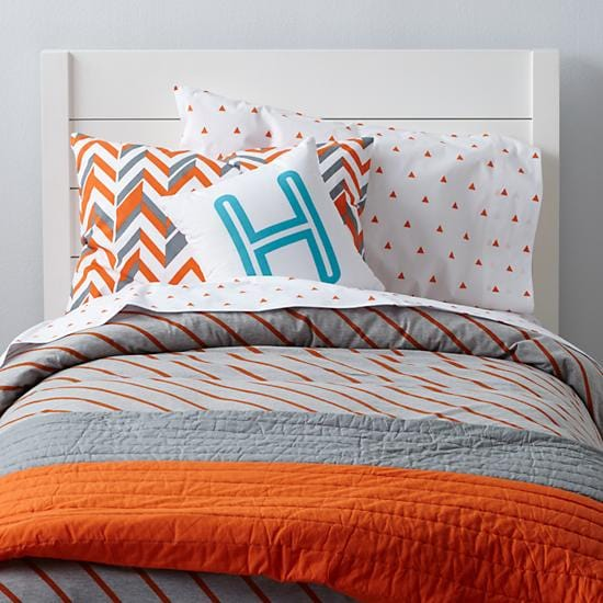Orange Little Prints Girls Bedding