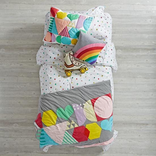 Rainbow Charm Girls Bedding