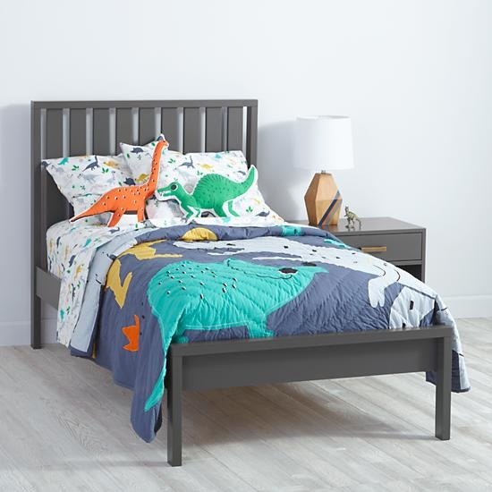 Charcoal Cargo Low Footboard Bed