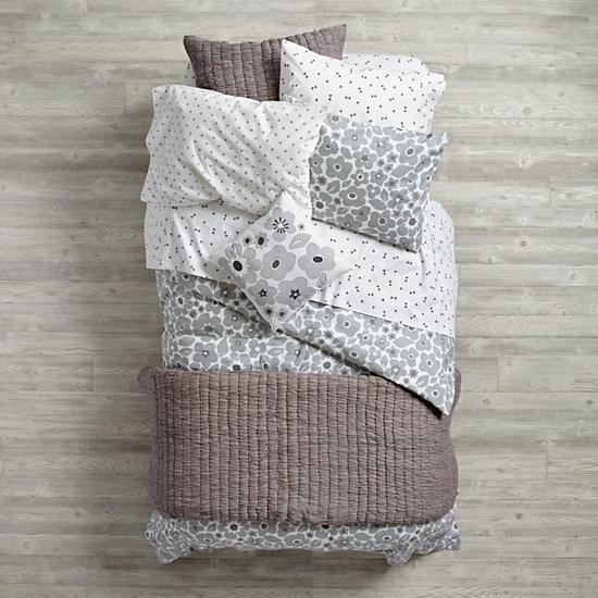 Grey Go Lightly Girls Bedding