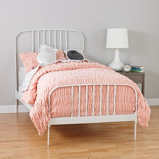 Larkin Kids White Metal Bed