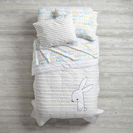 Early Edition Bunny Girls Bedding