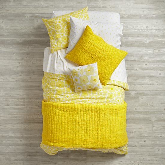 Yellow Go Lightly Girls Bedding