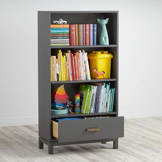 Charcoal Cargo Bookcase
