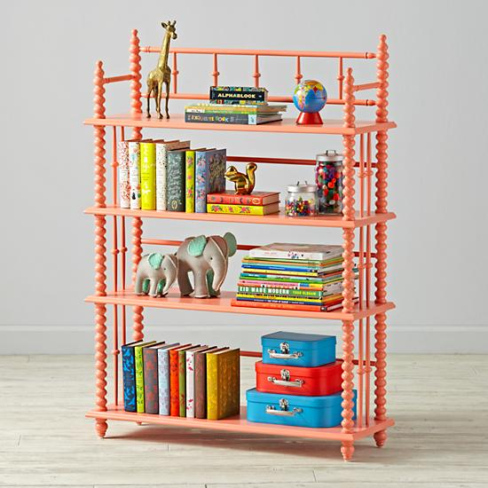 Coral Jenny Lind Bookcase