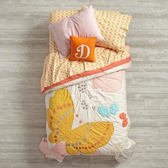 Fly Away Butterfly Pattern Girls Bedding