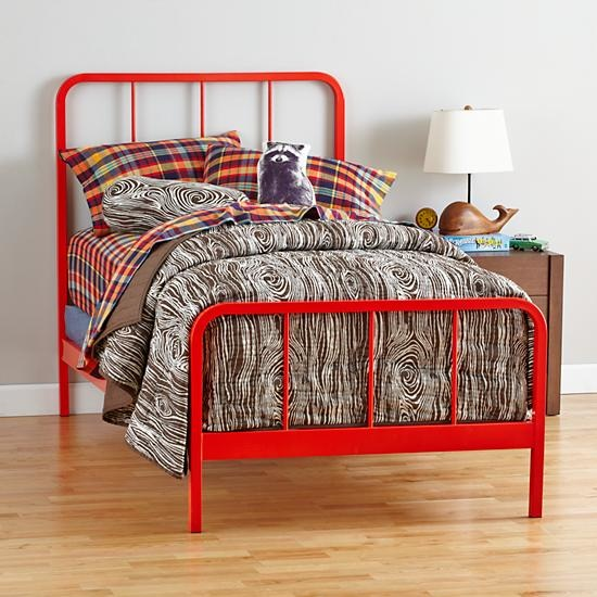 Red Orange Primary Bed