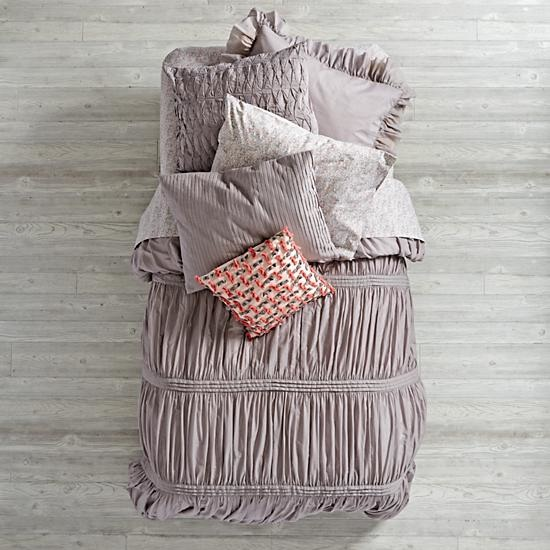Modern Chic Grey Girls Bedding