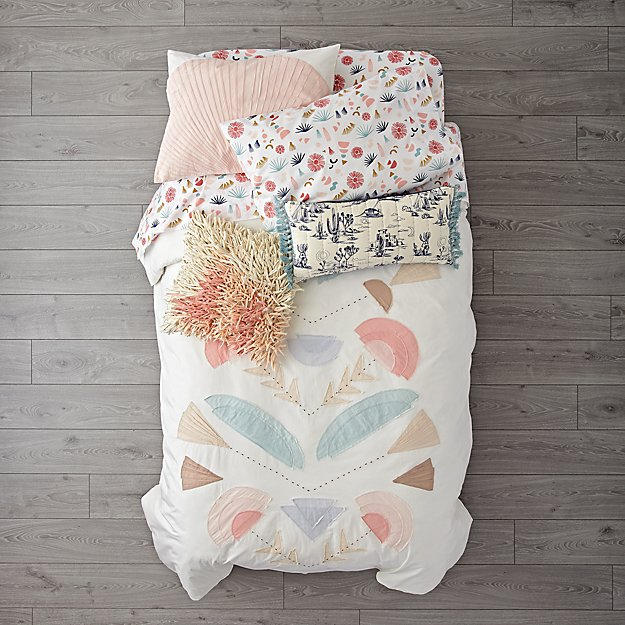 Desert Flora Girls Bedding