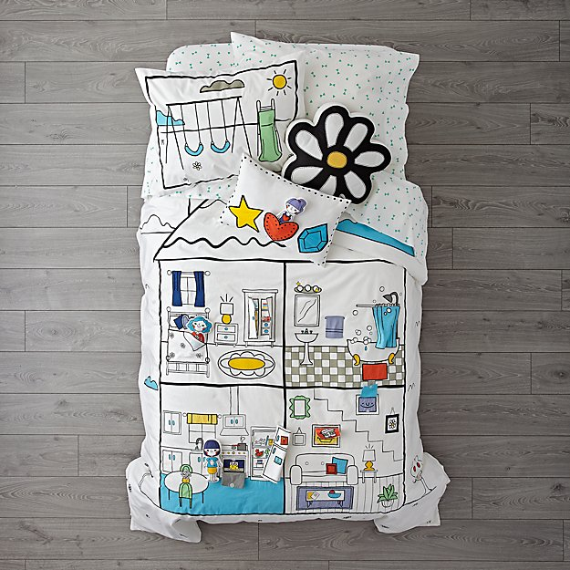 Interactive Dollhouse Girls Bedding
