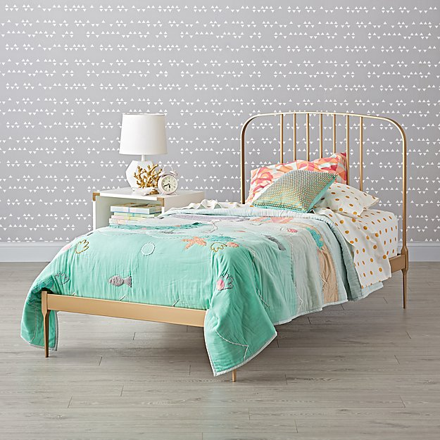 ​Larkin Gold Low Footboard Twin Bed