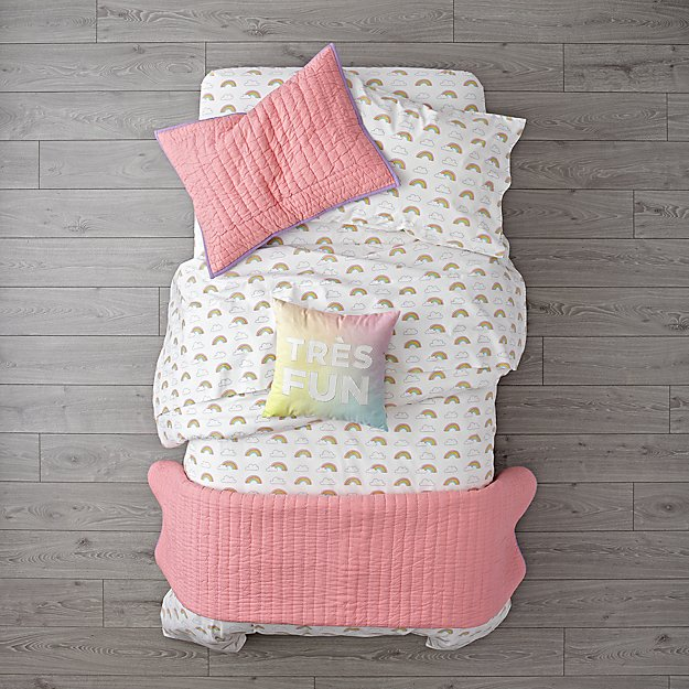 Organic Rainbow Girls Bedding