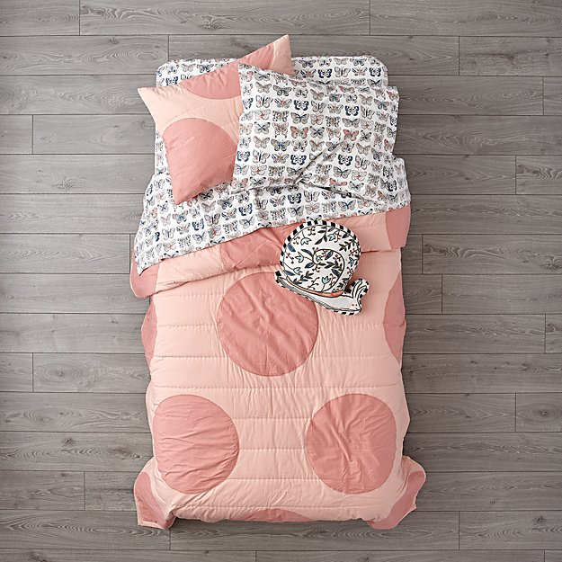 Pink Polka Dot Girls Bedding