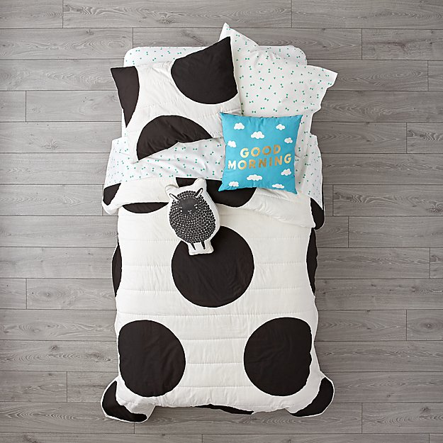 White Polka Dot Girls Bedding